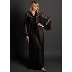 3987 Lace and Silk Robe