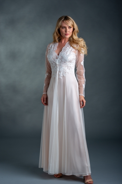03825 Tulle and Lace Robe