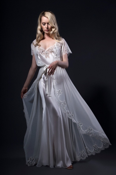 Bow 1673/83 Silk and Tulle Bridal set