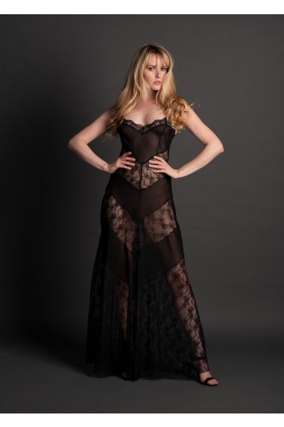 3976 Silk and Lace Gown
