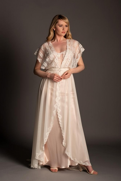 6981 Romantic Tulle Negligee