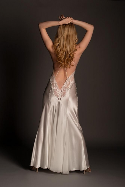 Alina Silk Low Back Gown 95711